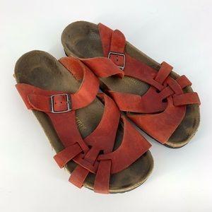 Birkenstock Red Pisa Cork Sandals Size 38 - US 7